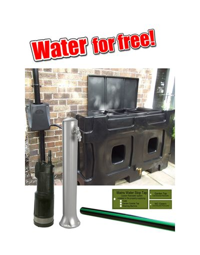 RainCatcher 750L Black - Complete Water for Free Rainwater System