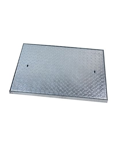 900 x 600 x 50mm Heavy Duty Solid Top Steel Drain Cover