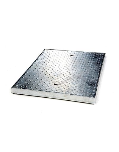 750 x 600 x 50mm Sealed Light Traffic Solid Top Steel Drain Cover