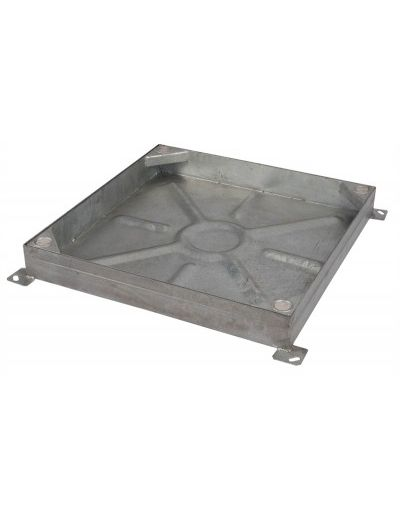 600 x 600mm Block Paving Manhole Cover w/ 80mm Recessed Tray Completely Galvanised
