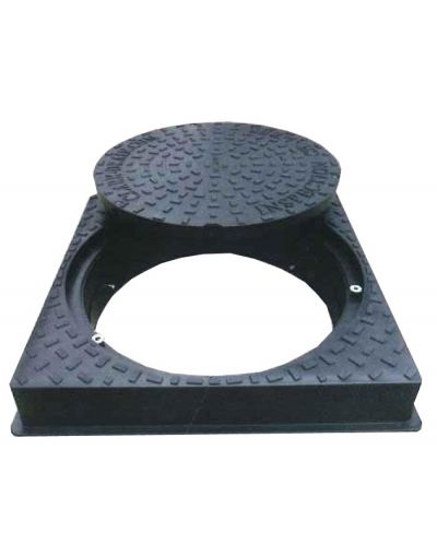 450 x 450mm Dual Locking, Square-to-Round Solid Top Manhole Cover