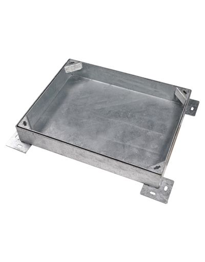 600 x 450mm Heavy Duty Block Paving Manhole Cover w/ 100mm Recessed Tray