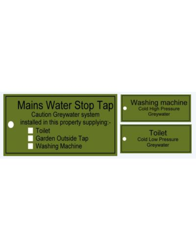 Rainwater Harvesting Labels Assorted Pack of 29
