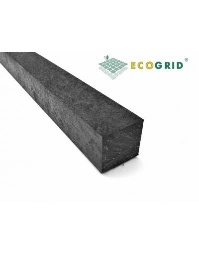 EcoGrid Black Plastic Lumber Plastic Wood 60 x 60 x 3100mm - Pack of 10