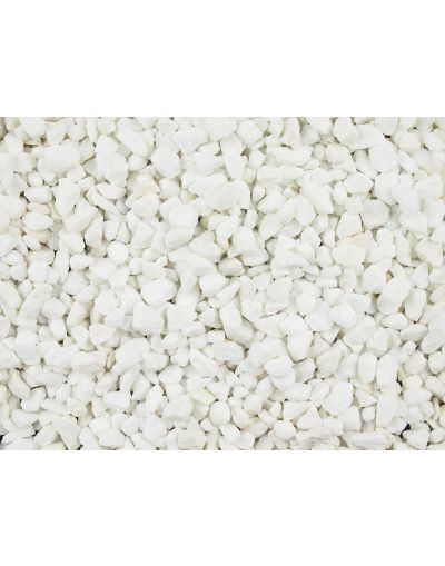 Polar White Marble 10mm Fill Material Gravel Chippings - Bulk Bag