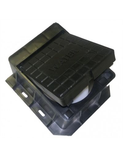 CD 880 Plastic Hinged & Locking Surface Box - 100.5 X 75mm - Stop Tap Box