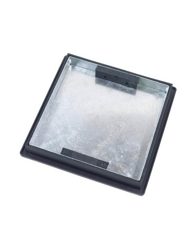 220 to 300mm Square to Round, Sealed Manhole Cover w/ 43.5mm Recessed Tray