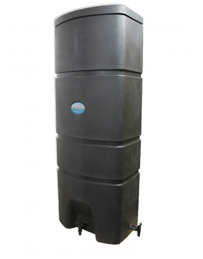 16x160 Litre Designer Wall Mounted Rainwater Tank - Black