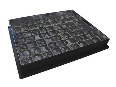 600 x 450mm EcoGrid Manhole Cover for Gravel w/ 80mm Recessed Tray