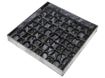 600 x 600mm EcoGrid Manhole Cover for Gravel w/ 80mm Recessed Tray Completely Galvanised