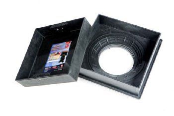 220 to 300mm Square to Round Manhole Cover w/ 80mm Recessed Tray