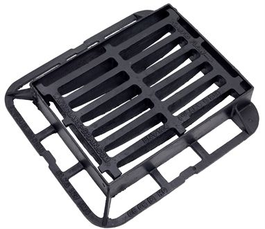 440 x 335 x 75mm Ductile Iron End Hinged Gully Grating