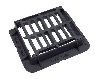 430 x 370 x 100mm Ductile Iron End Hinged Gully Grating