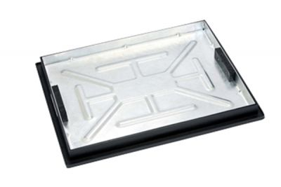 600 x 450mm Sealed Manhole Cover w/ 43.5mm Recessed Tray Completely Galvanised