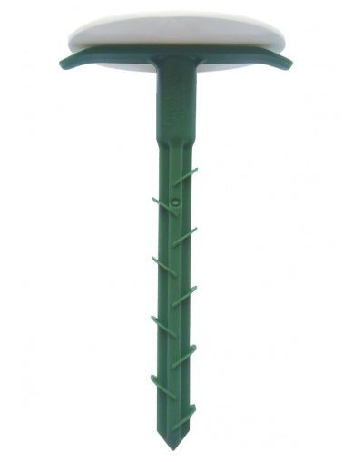 """160mm """"2-in-1"""" Barbed Fixing Pegs & Bay Markers - For Geotextiles, Porous Paving, Ground Reinforcement - Pack of 10"""