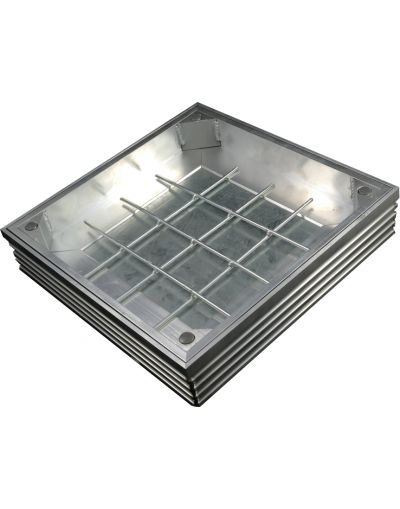Aluminium 150 x 150 x 41mm [60mm Depth] Triple Sealed Recessed Manhole Cover Alucover