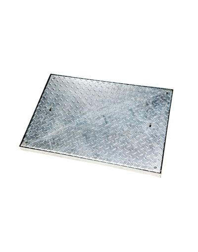 900 x 600 x 50mm Sealed Light Traffic Solid Top Steel Drain Cover
