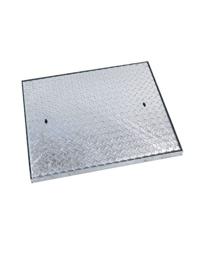 600 x 450 x 50mm Industrial Solid Top Steel Drain Cover
