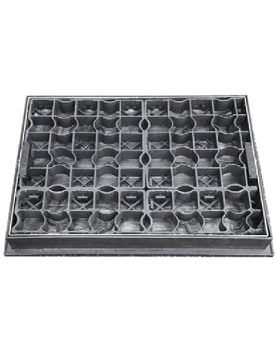 600 x 450mm EcoGrid Manhole Cover for Gravel w/ 80mm Recessed Tray Completely Galvanised