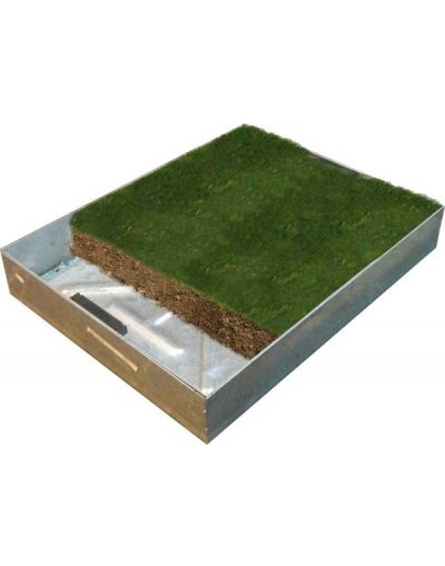 450 x 450mm EcoGrid GrassTop Manhole Cover w/ 100mm Recessed Tray