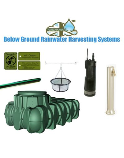 Lilo Flat Tank 3000L Complete Rainwater Harvesting Garden System