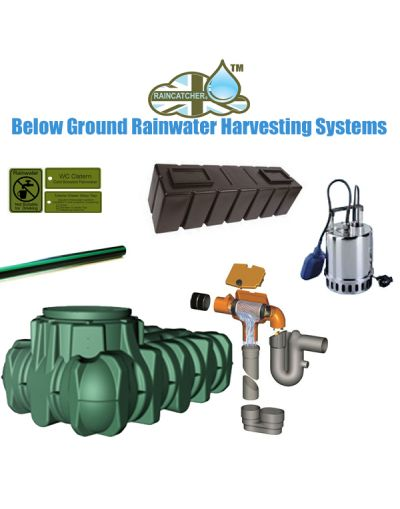 Lilo Flat Tank 3000L Complete Rainwater Harvesting Gravity Feed System