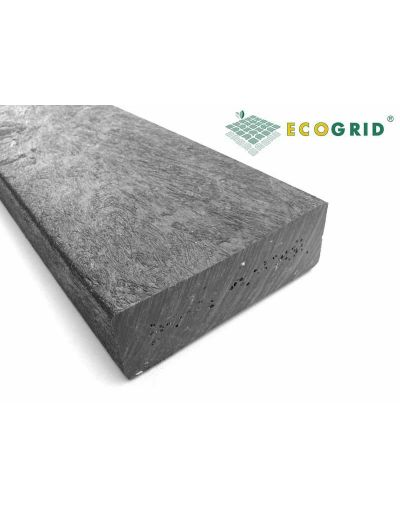 EcoGrid Black Plastic Lumber Plastic Wood 150 x 30 x 1000mm - Pack of 10