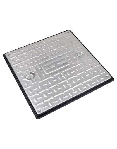 600 x 600 x 30mm Sealed Driveway Solid Top Drain Cover